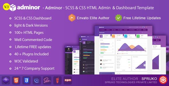Adminor - Clean & Modern Responsive Bootstrap4 Admin Dashboard HTML5 Template