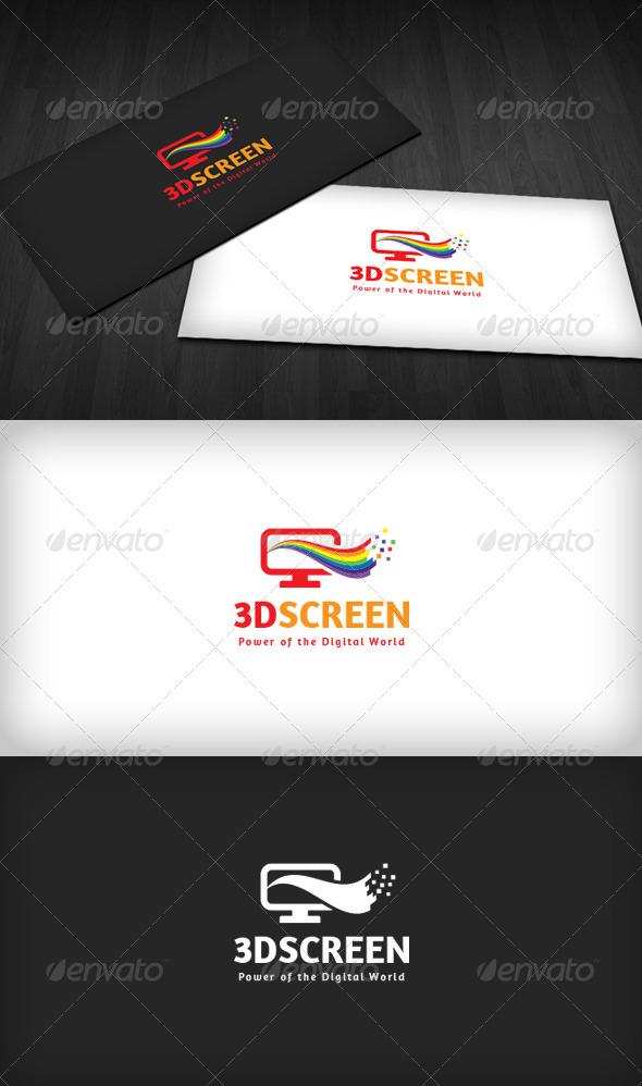 3D Screen Logo - Objects Logo Templates