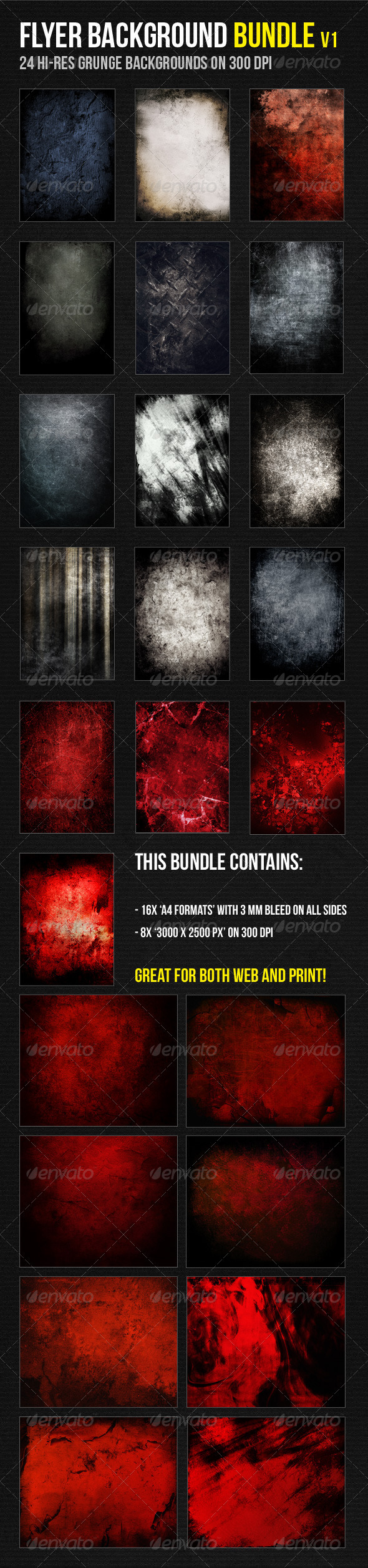 Grunge Background Bundle - Miscellaneous Backgrounds