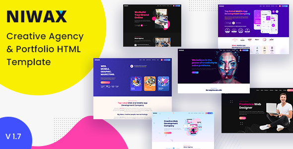 Niwax - Creative Agency & Portfolio HTML Template