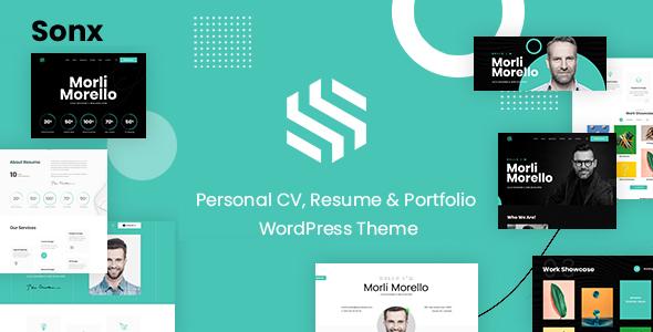 Download Sonx – Personal Resume and Portfolio WordPress Theme? Free Nulled