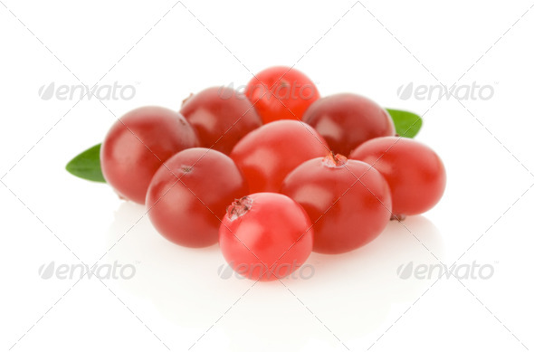 ripe cranberry isolated on white - Stock Photo - Images