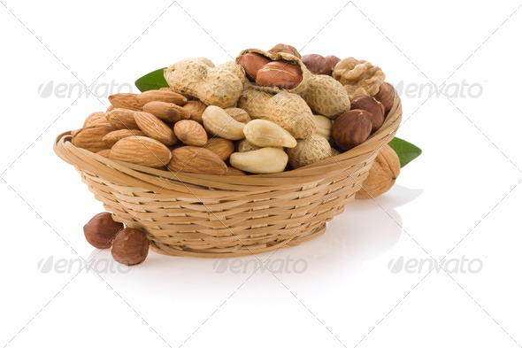 Nut food garl - Stock Photo - Images