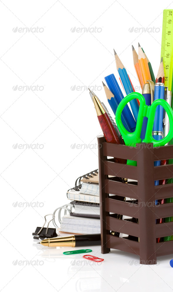 back to school concept isolated on white - Stock Photo - Images