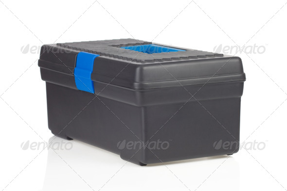 toolbox isolated on white - Stock Photo - Images