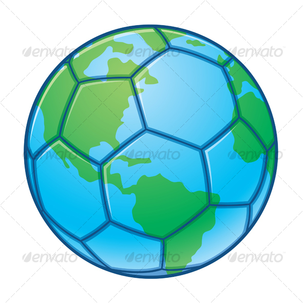 Planet Earth World Cup Soccer Ball - Sports/Activity Conceptual