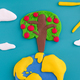 An apple tree growing on the Earth - PhotoDune Item for Sale