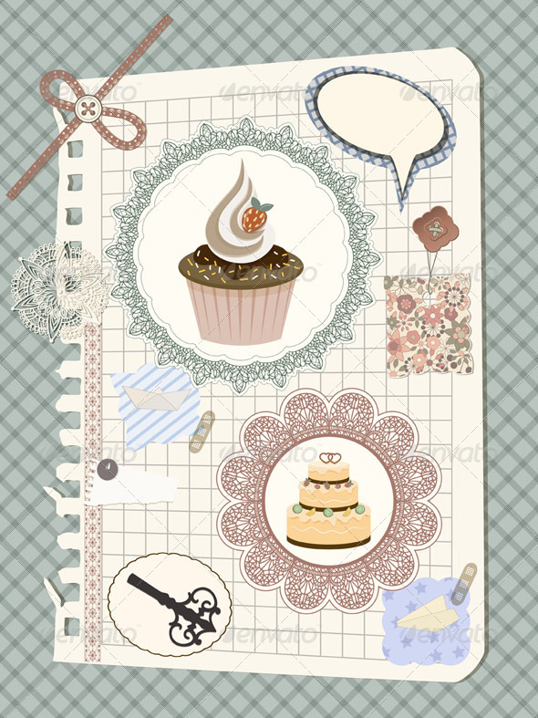 Vector Scrapbook - Backgrounds Decorative