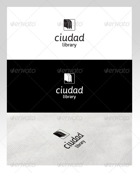 Book & Library Logo Template - Objects Logo Templates