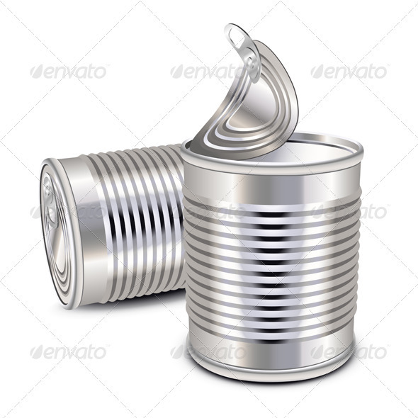 Food tin cans - Food Objects