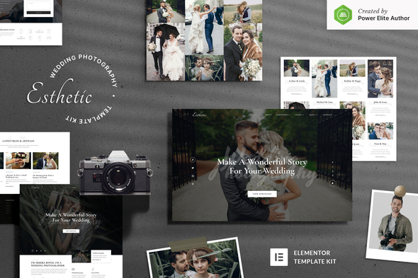 Esthetic – Wedding Photography Elementor Template Kit