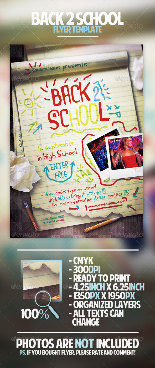 Back 2 School Flyer Template - Holidays Events