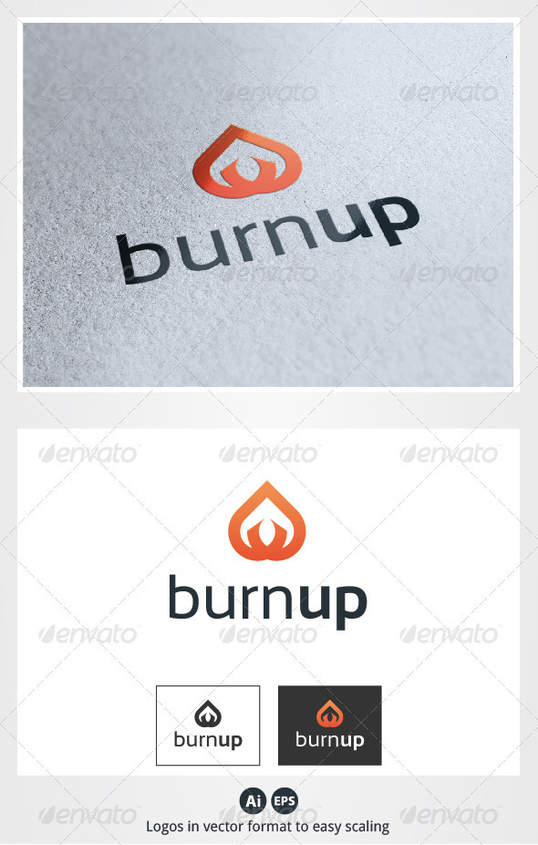 Burn Up Logo - Symbols Logo Templates