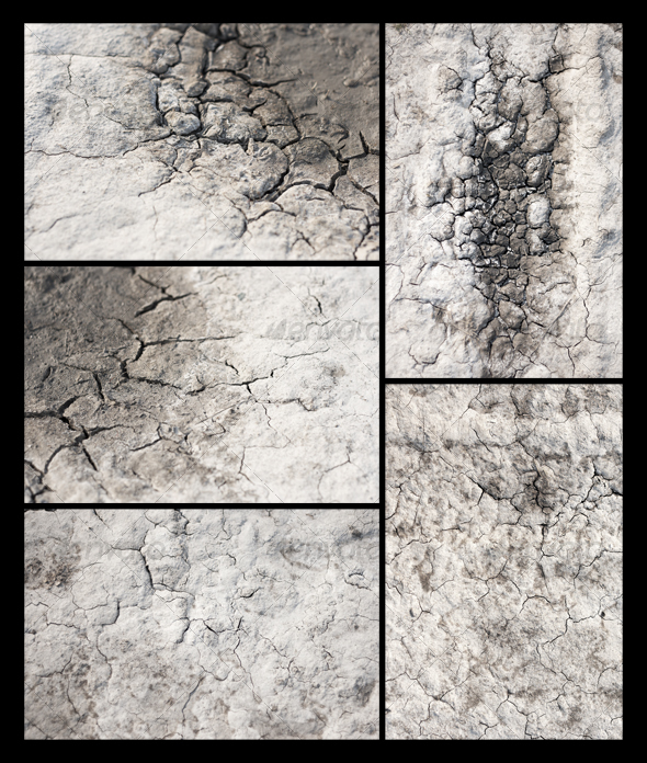 5 Earth, Sand in the Crevices of Drought - Miscellaneous Textures