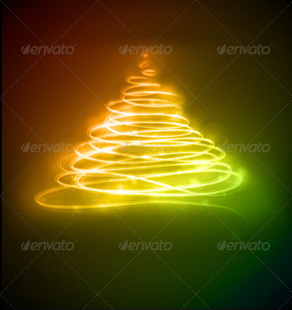 Abstract Christmas tree - Christmas Seasons/Holidays
