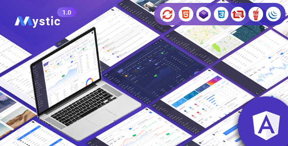 Mystic - Angular Admin Dashboard Template