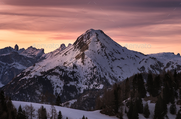 Mountain Sunset - Stock Photo - Images