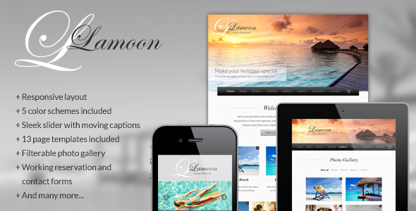 Lamoon - Responsive Resort and Hotel Template - Travel Retail