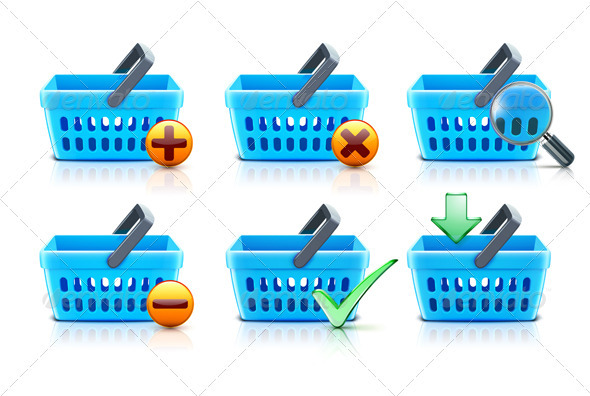Supermarket shopping baskets - Commercial / Shopping Conceptual