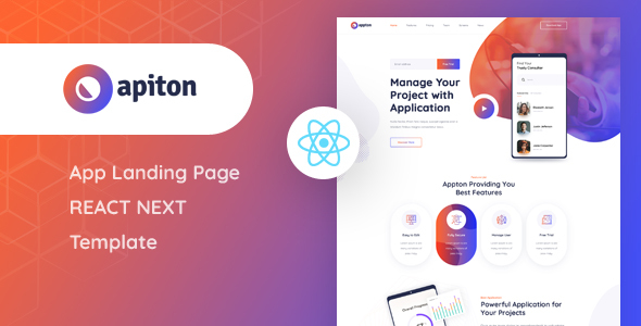 Exceptional Apiton - React Next App Landing Page Template