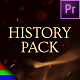 History Pack - Premiere Pro | Mogrt - VideoHive Item for Sale