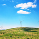 Wind generators on a plain under a blue sky - PhotoDune Item for Sale