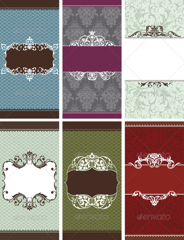 Vertical Invitation Frames - Borders Decorative