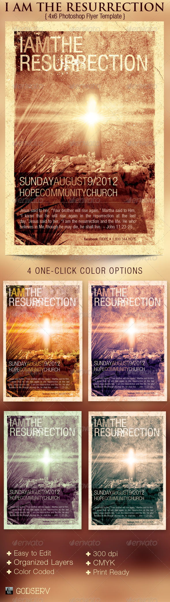 Resurrection Church Flyer Template - Church Flyers