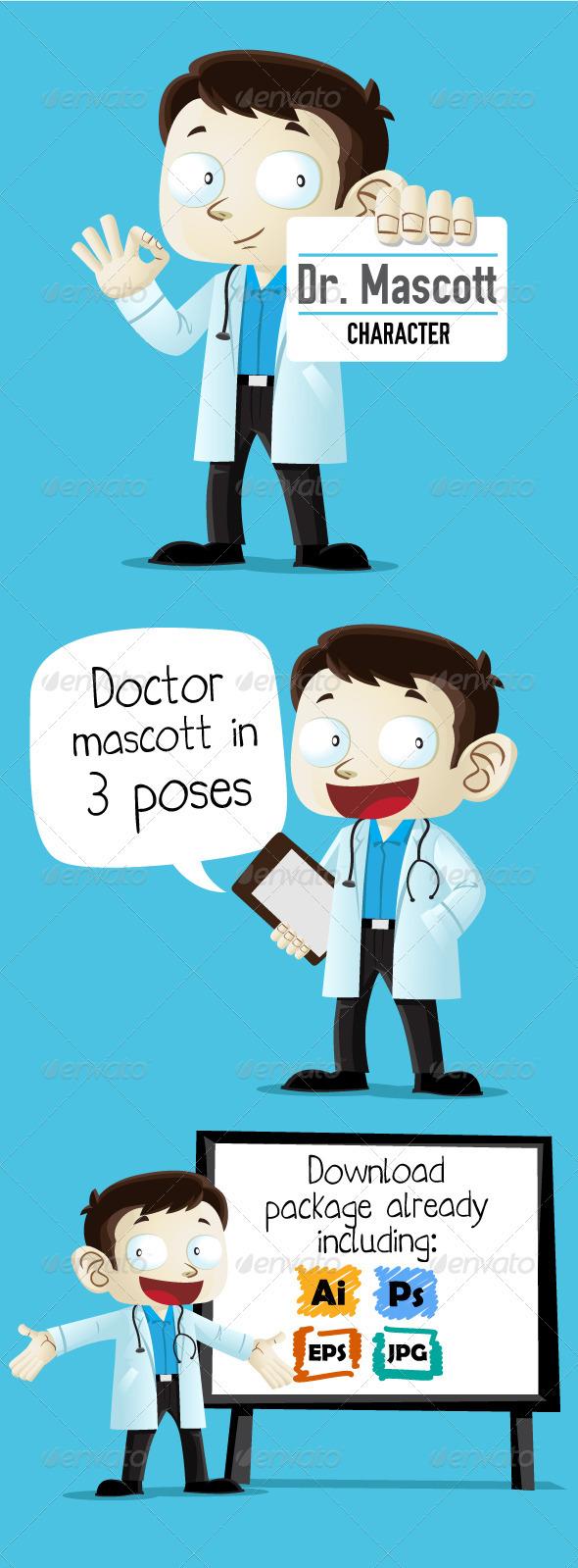 Doctor Character - Characters Vectors