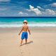 Three year old toddler boy walking on beach - PhotoDune Item for Sale