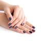 Closeup of hands of a young woman with dark manicure on nails - PhotoDune Item for Sale