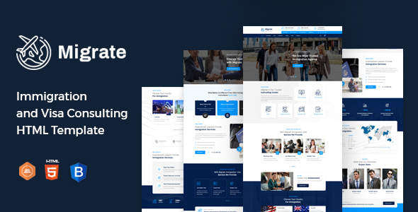 Excellent Migrate – Immigration and Visa Consulting HTML Template