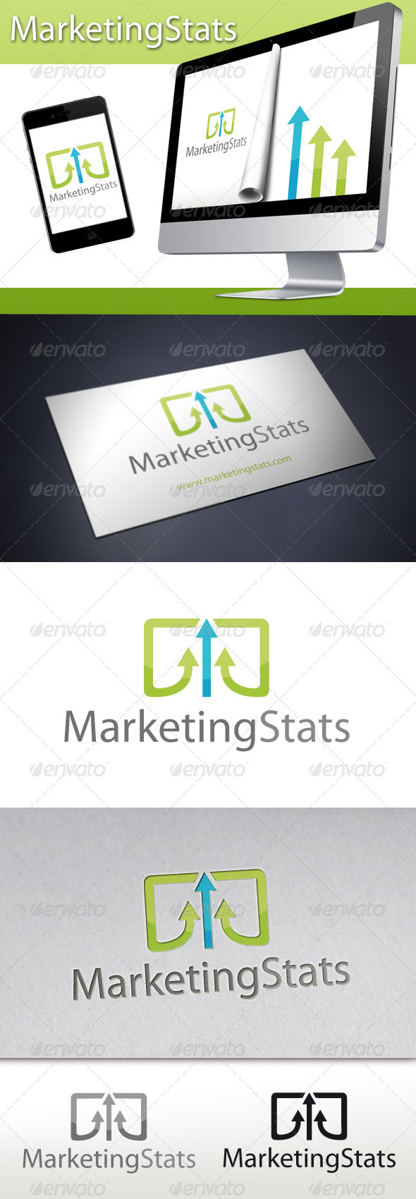 Marketing Stats Logo - Symbols Logo Templates