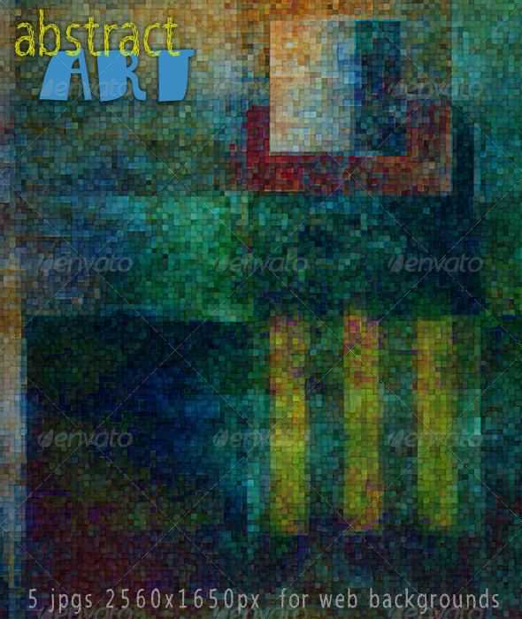 Abstract Art; Mosaic Murals Web Backgrounds - Abstract Backgrounds