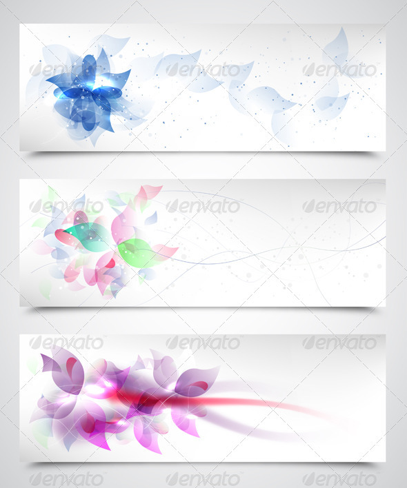 Floral Vector Backgrounds - Flourishes / Swirls Decorative