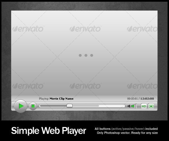 Simple Web Player - Web Elements