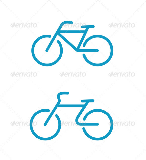 Bicycle icons - Conceptual Vectors