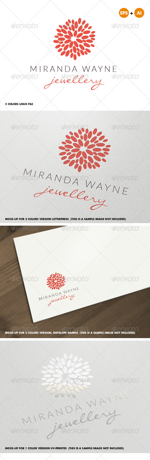 Jewelry Bijoux Beauty Logo for Creative Designer - Abstract Logo Templates