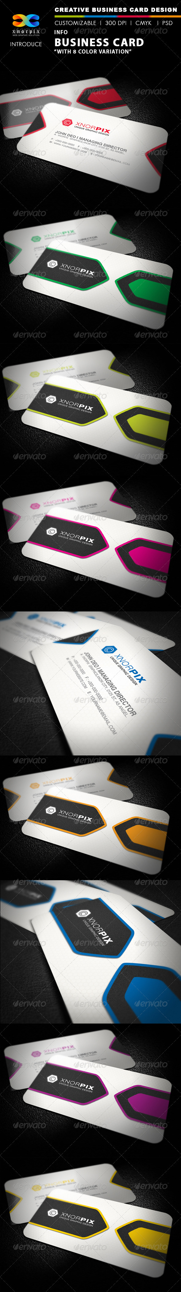 Info Business Card - Corporate Business Cards