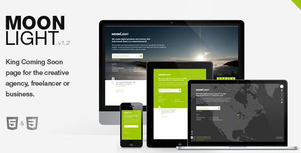 MoonLight > Responsive coming soon Page