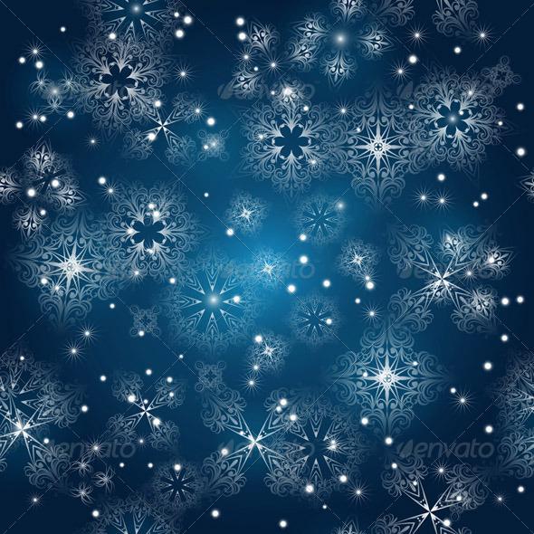 Winter Sky - Backgrounds Decorative