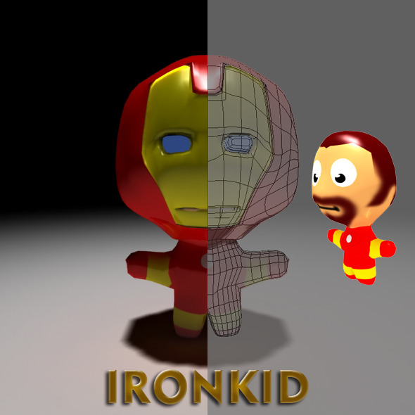 Ironkid Cartoon - 3DOcean Item for Sale