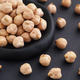 Chickpeas in a black plate - PhotoDune Item for Sale