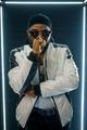 Stylish rapper in sunglasses, dark background - PhotoDune Item for Sale