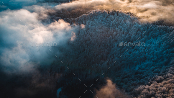 Breathtaking Mountains in Winter - Stock Photo - Images
