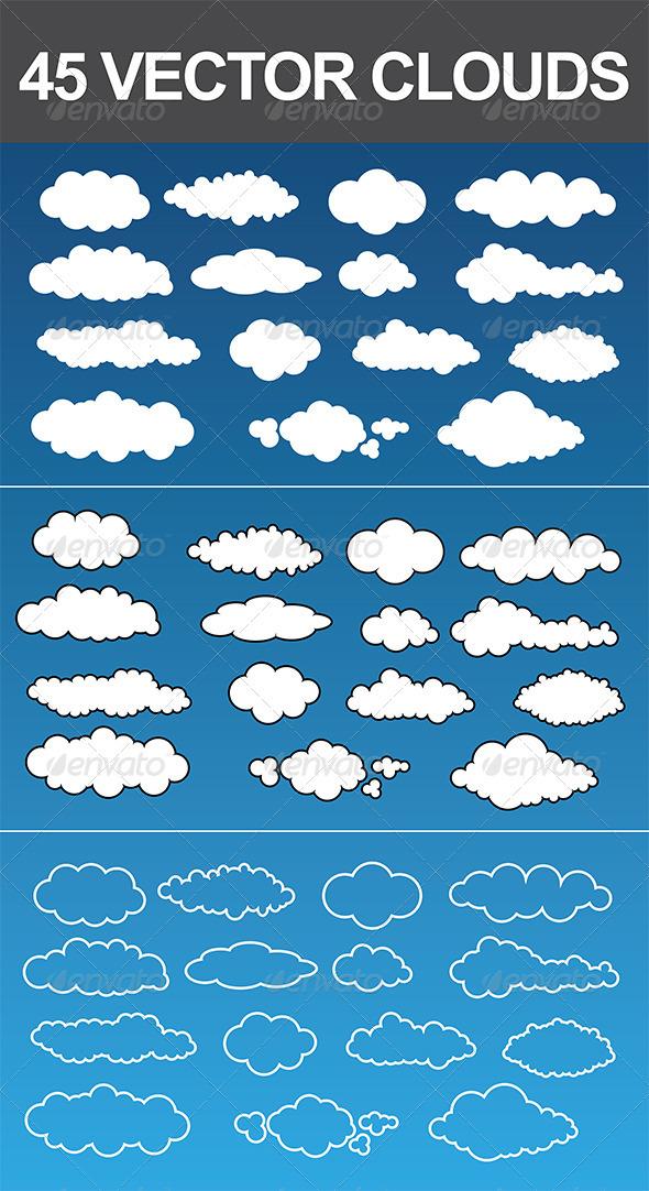 45 Vector Clouds - Nature Conceptual