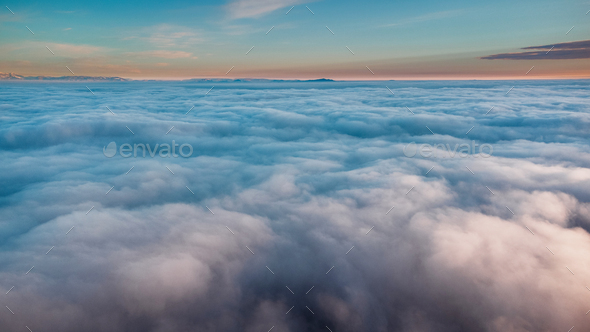 fog over the landscape - Stock Photo - Images
