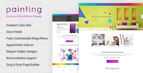 Exceptional Paint - Painting Company WordPress Theme