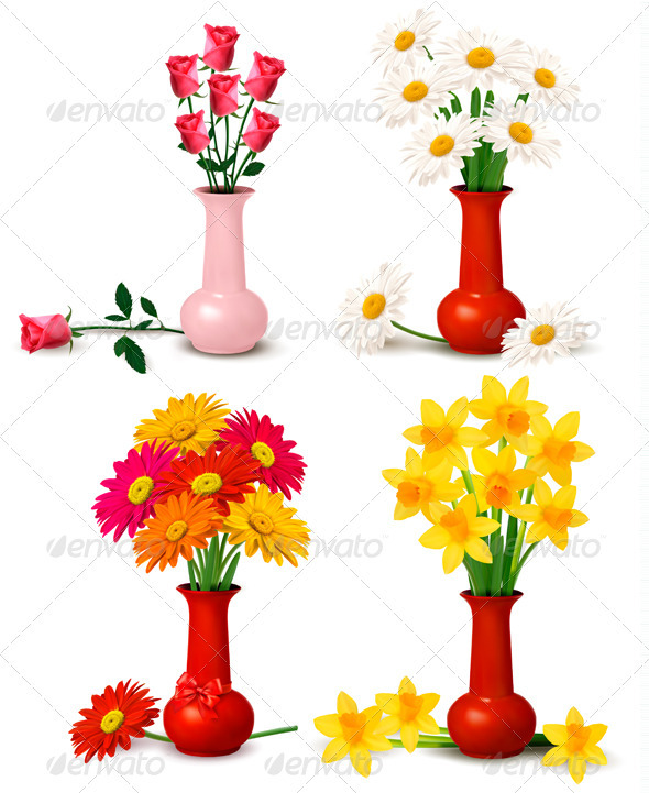 Big set of spring and summer flowers - Flowers & Plants Nature