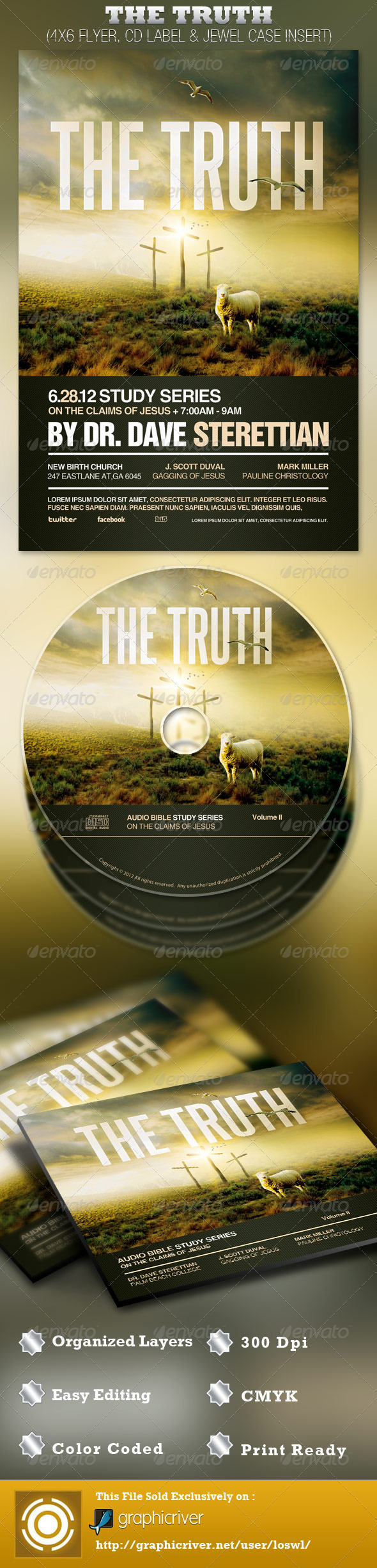 The Truth Church Flyer and CD Template - Church Flyers